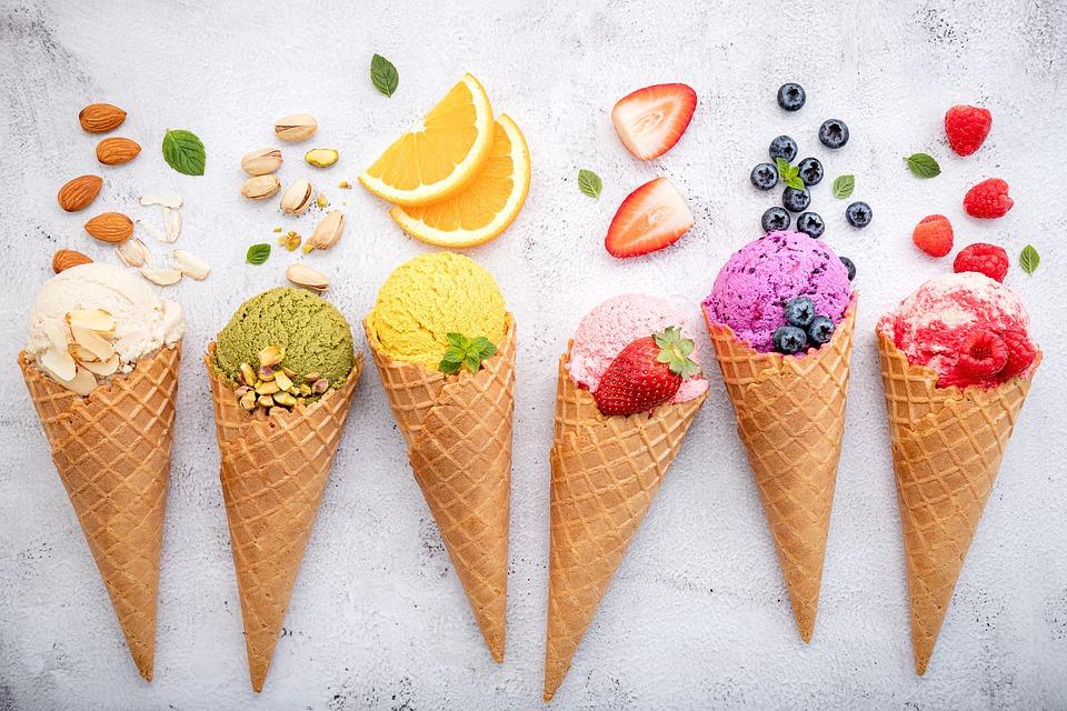 barevné zmrzliny