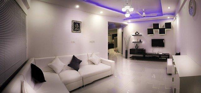 bílý obývák